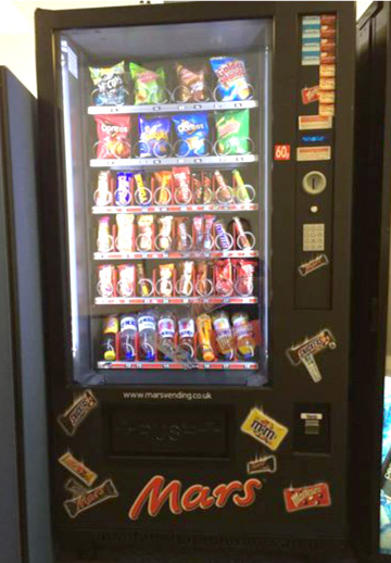 Combination vending machine space saver
